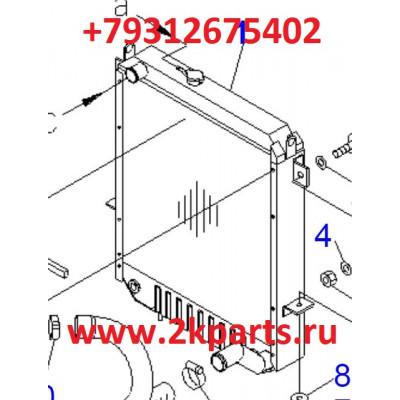 радиатор Komatsu FD135-7 3FE0431110
