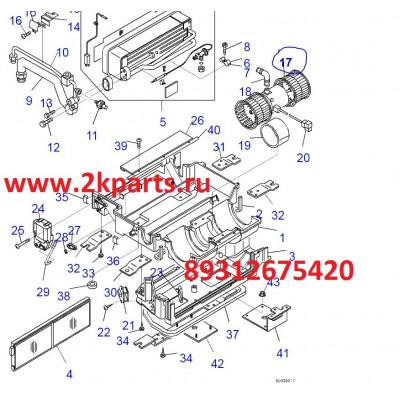 DK502725-1730 мотор отопителя komatsu